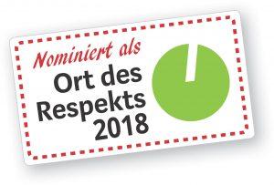 Nominiert als Ort des Respekts 2018